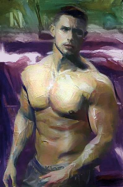 Digital Art - Nate by Richard Laeton