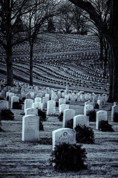 Photograph - National Cemetery In Black And White by Tom Singleton