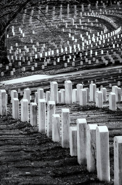 Photograph - National Cemetery by Tom Singleton