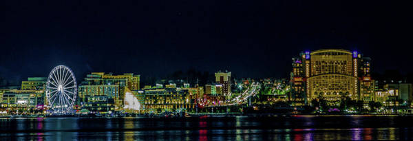 Wall Art - Photograph - National Harbor Lights by Lora J Wilson