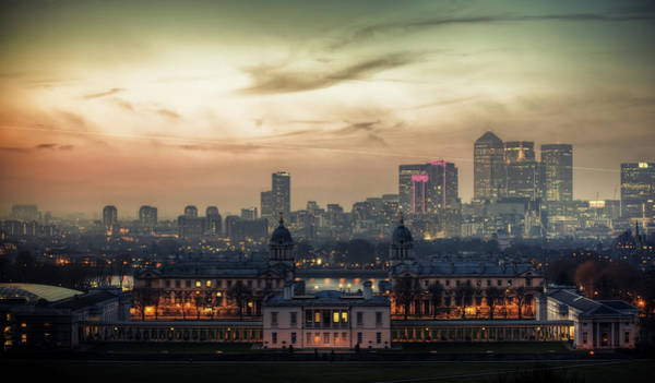 Canary Wharf Photograph - National Maritime Museum by Michael Murphy