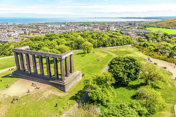 Wall Art - Photograph - National Monument Of Scotland Viewed From The Nelson Monument by W Chris Fooshee
