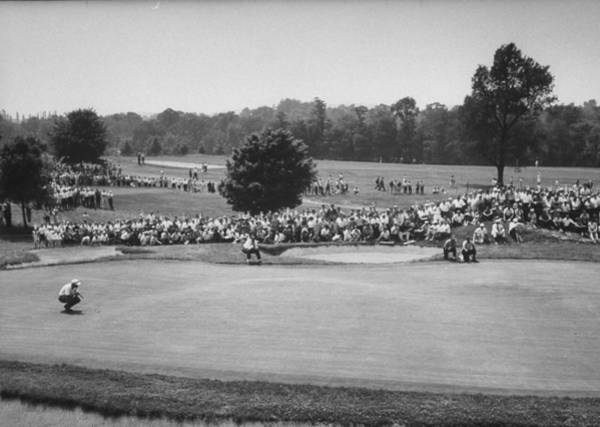 Photograph - National Open Golf Championship Tourname by John Dominis