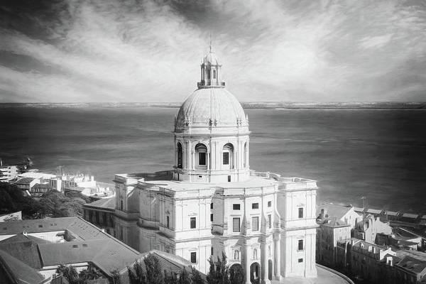 Pantheon Wall Art - Photograph - National Pantheon Lisbon Portugal Black And White by Carol Japp