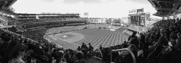Photograph - Nationals Park Pano Bw by Jeremy Guerin