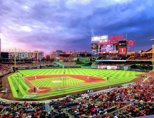 Painting - Nationals Park Washington Nationals Baseball Ballpark Stadium by Christopher Arndt