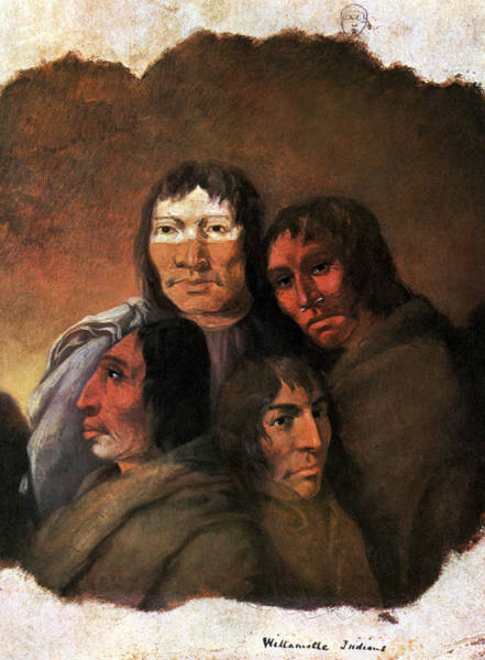 Painting - Native American Clackamas Indians by Science Source
