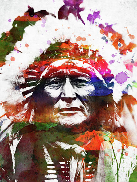 Indigenous Digital Art - Native American Indian 4 by Mihaela Pater