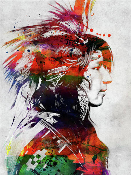 Indigenous Digital Art - Native American Indian 6 by Mihaela Pater