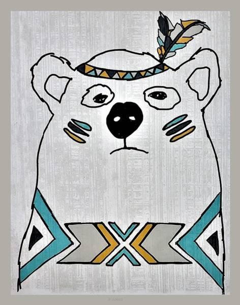Photograph - Native American Polar Bear by Rob Hans