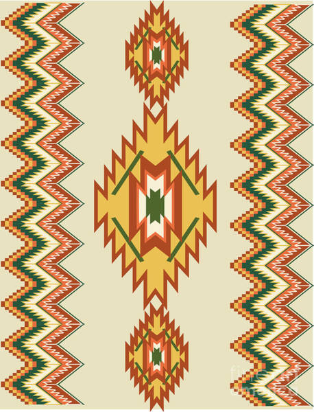 Digital Art - Native American Rug by Shelley Myers
