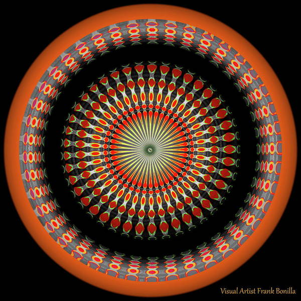 Digital Art - Native American Sun Two by Visual Artist Frank Bonilla