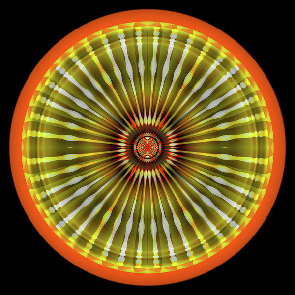 Digital Art - Native American Sun by Visual Artist Frank Bonilla
