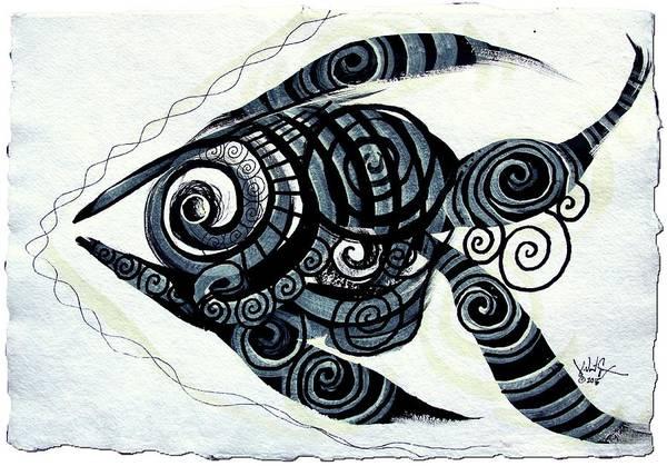 Painting - Nativemmental, Fish 2 by J Vincent Scarpace