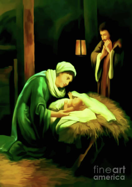 Digital Art - Nativity Of Jesus by D Hackett