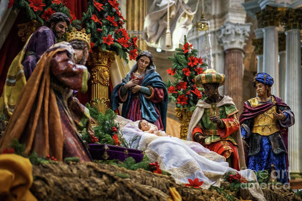 Photograph - Nativity Scene Cadiz Cathedral by Pablo Avanzini
