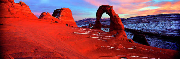 Wall Art - Photograph - Natural Arch In A Desert, Delicate by Panoramic Images
