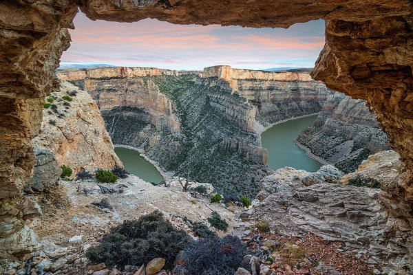 Magnificence Wall Art - Photograph - Natural Arch In Bighorn Canyon by Leland D Howard