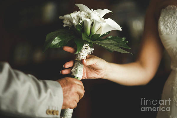 Photograph - Natural Bridal Bouquet For The Wedding. by Joaquin Corbalan