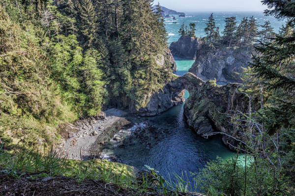 Photograph - Natural Bridges On The Oregon Coast From The North by Belinda Greb