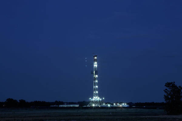 Street Photograph - Natural Gas Drilling Rig by Tmarvin