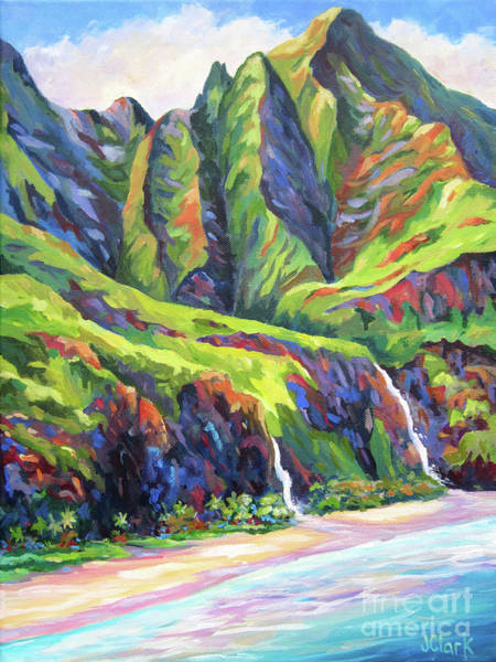 Wall Art - Painting - Natural Na Pali Coast In Kauai by John Clark