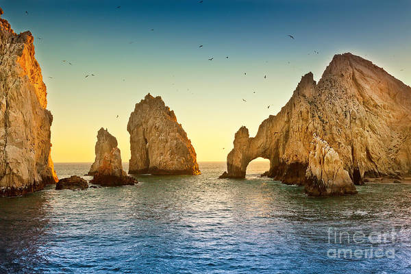 Cabo San Lucas Arch Wall Art - Photograph - Natural Rock Formation At Lands End, In by Ruth Peterkin