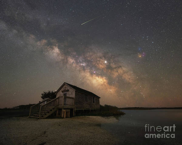 Photograph - Naturalist Shack Under The Milky Way by Michael Ver Sprill