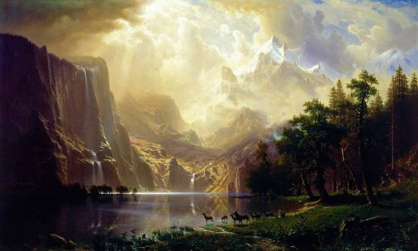 Wall Art - Painting - Digital Remastered Edition - Among The Sierra Nevada Mountains, California by Albert Bierstadt