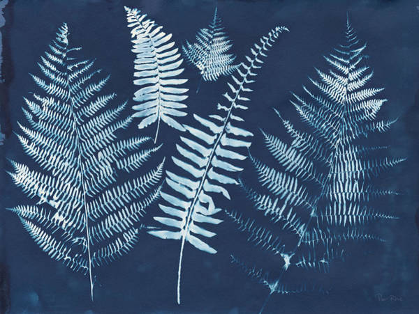 Wall Art - Painting - Nature By The Lake - Ferns I by Piper Rhue
