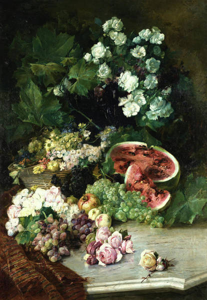 Wall Art - Painting - Nature, Flowers And Fruits Of Lleida by Jaume Morera Galicia