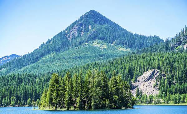 Photograph - Nature On Keechelus Lake Near Snoqualme Pass Washington State by Alex Grichenko