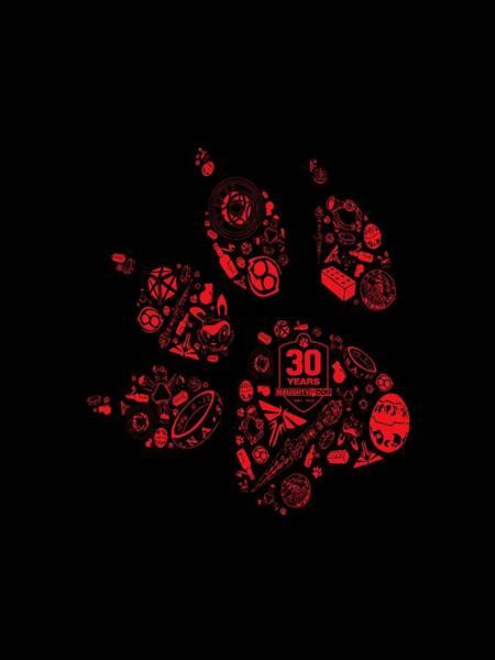 Naughty Dog Digital Art - Naughty Dog Paw  by Rayshiva Digdaya