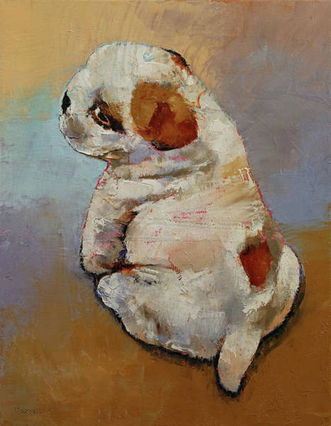 Wall Art - Painting - Naughty Puppy by Michael Creese