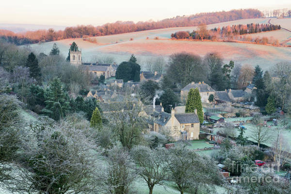 Photograph - Naunton Village In The January Frost At Sunrise by Tim Gainey