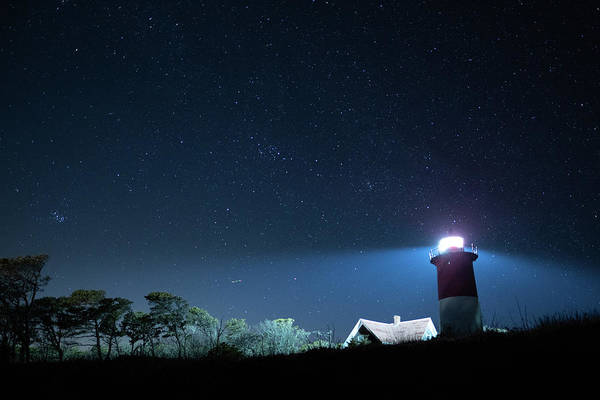 Photograph - Nauset Light Under The Stars by Kyle Lee