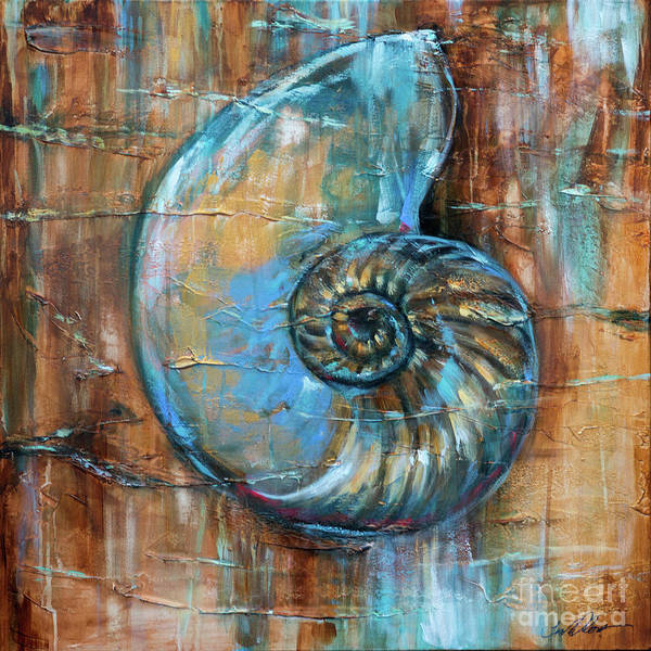 Painting - Nautilus Fossil by Linda Olsen