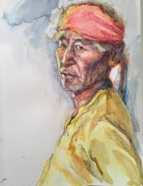 Painting - Navaho Man by Ellen Dreibelbis