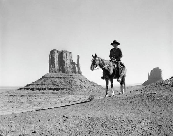 Wall Art - Photograph - Navajo Indian In Cowboy Hat by Panoramic Images