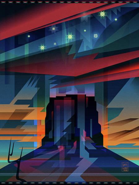 Wall Art - Digital Art - Navajo Night Dance by Garth Glazier
