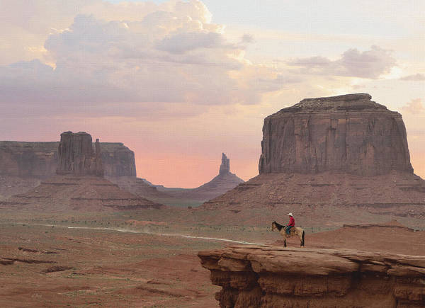 Stagecoach Photograph - Navajo Rider  by Gordon Beck