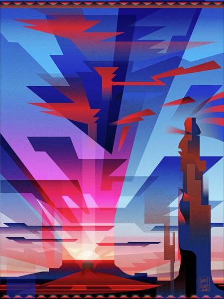 Four Corners Wall Art - Digital Art - Navajo Sunset Arizona by Garth Glazier