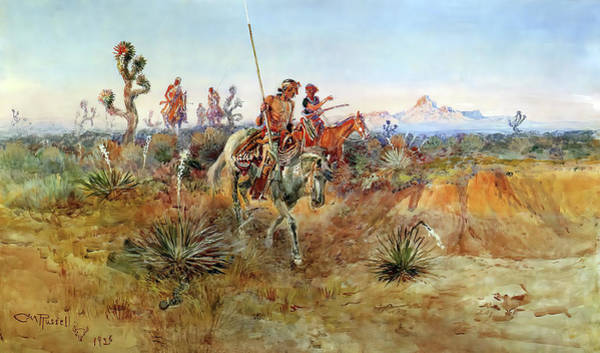 Painting - Navajo Trackers by Charles Russell