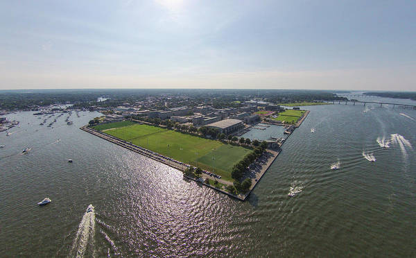 Photograph - Naval Academy On The Severn by Mark Duehmig