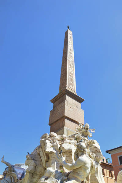 Photograph - Navona Fountain Obelisk  by JAMART Photography