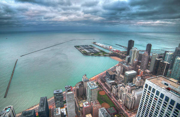 Usa Navy Photograph - Navy Pier From The Hancock Building by Chris Smith Www.outofchicago.com
