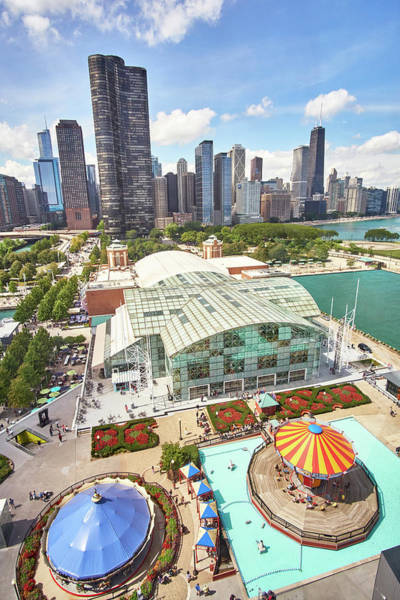 Wall Art - Photograph - Navy Pier In Chicago by Jim Hughes