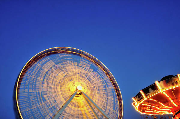 Usa Navy Photograph - Navy Pier Lights by Bruce Leighty