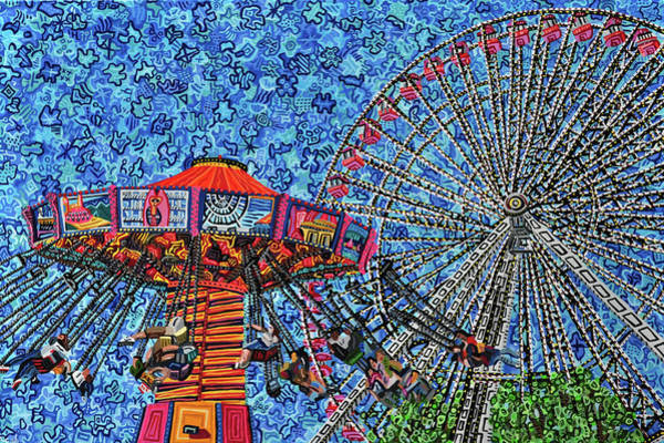 Wall Art - Painting - Navy Pier by Micah Mullen