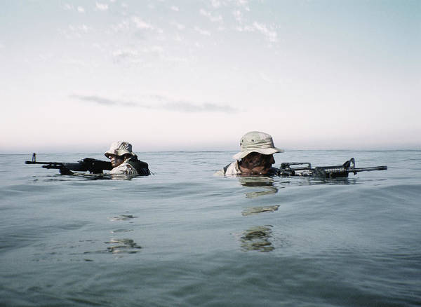 Navy Seal Photograph - Navy Seals In Training by Miguel Salmeron